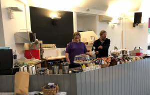 Inside the Community Cafe in Ivybridge